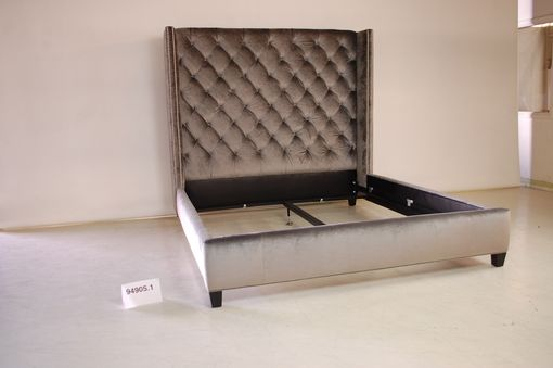 Custom Made Button Tufted Wing Bed