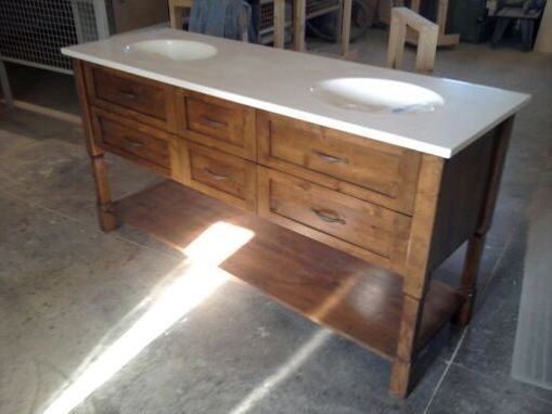 Custom Made Knotty Alder Bath Vanity