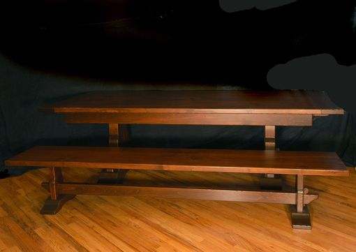 Custom Made Rustic Knotty Alder Dining Table