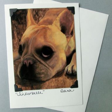 Custom Made French Bulldog Art Card - Dog Postcard Greeting Card Combination