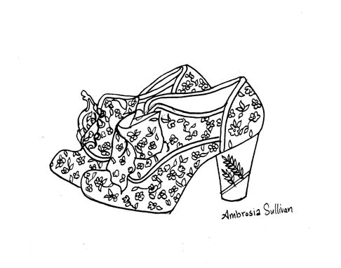 Custom Made Shoe Drawings/Illustrations