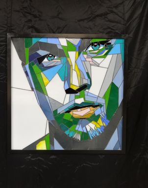 Custom Made Stained Glass Portrait Of Leonardo Dicaprio