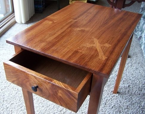 Custom Made End Table With Drawer