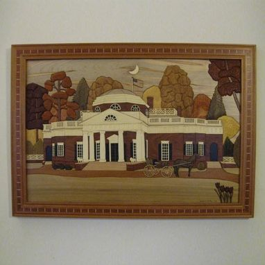 Custom Made Framed Monticello Intarsia