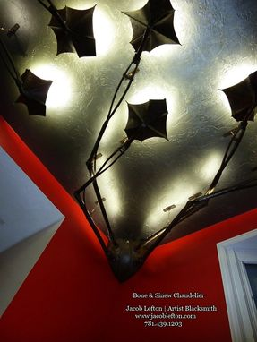 Custom Made Bone & Sinew Chandelier