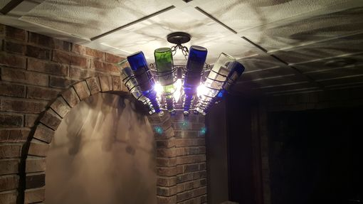 Custom Made Wine Bottle Chandelier