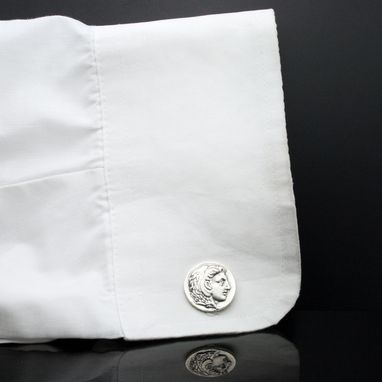 Custom Made Sterling Silver Alexander Cufflinks