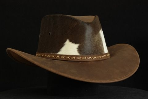Custom Made Western Style Leather Hat - Indiana Becerro Toledo