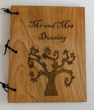 Custom Made Wooden Personalized Wedding Guest Book