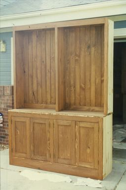 Custom Made Pine Wood Hutch