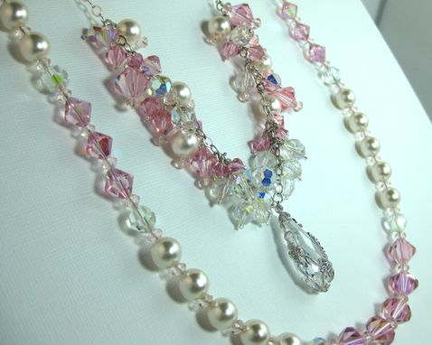 "Custom Made ""Confection"" Swarovski Crystal And Pearl Necklace"