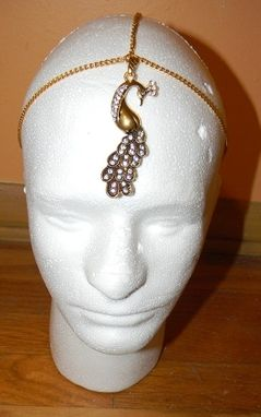 Custom Made Custom Metal Head Piece With Charm