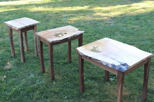 Custom Made Live Edge Living Room Tables