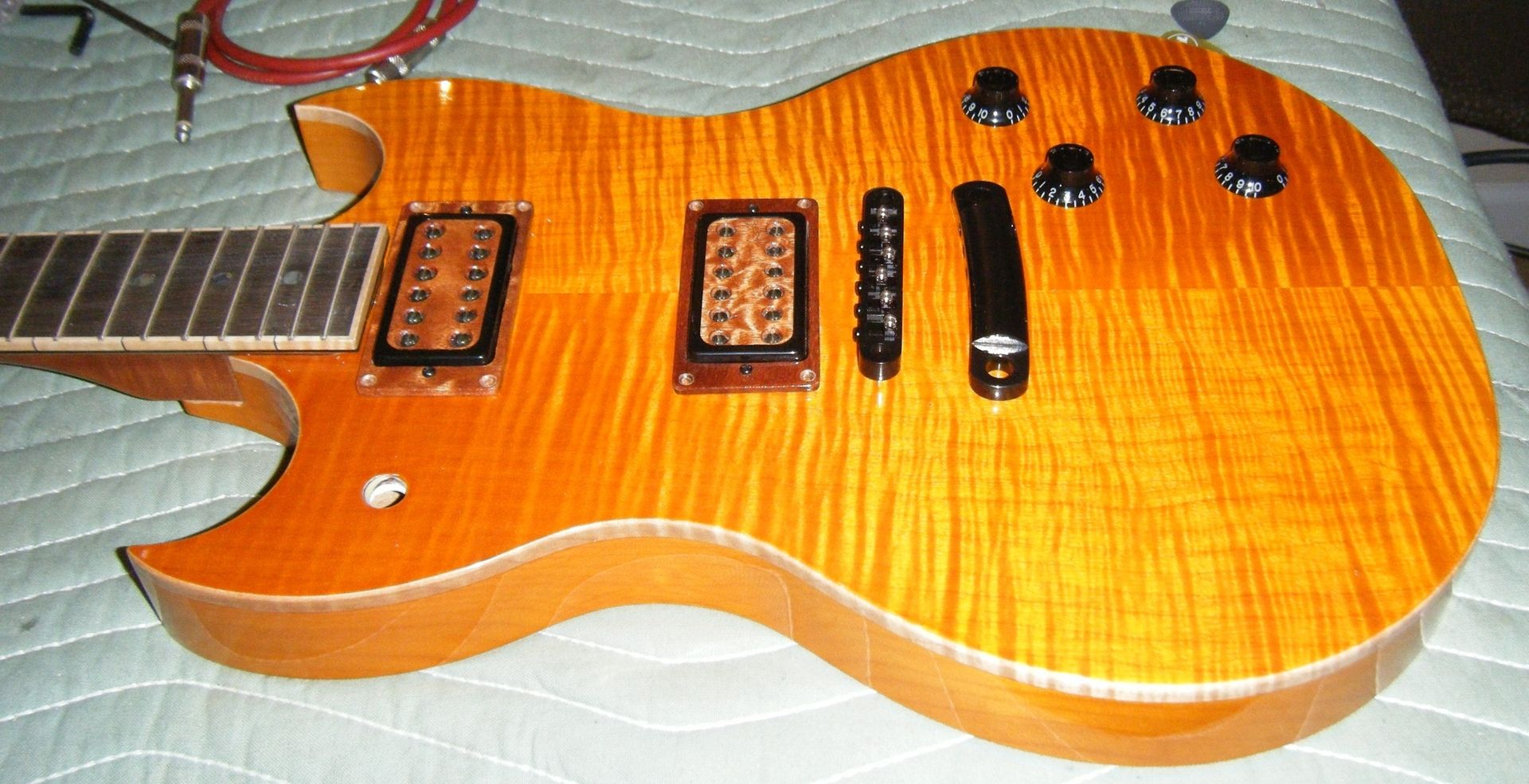 hand crafted hawkins guitar sg style electric guitar by hawkins guitar. Black Bedroom Furniture Sets. Home Design Ideas