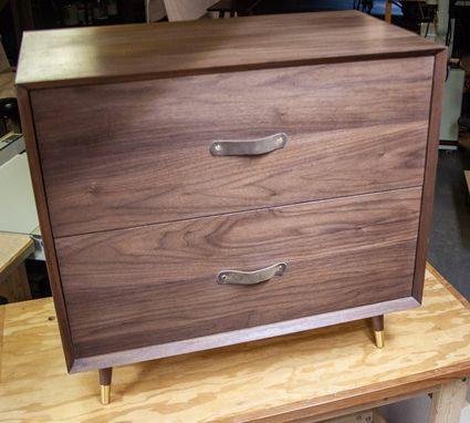 Custom Made Mid-Century Modern Lateral File