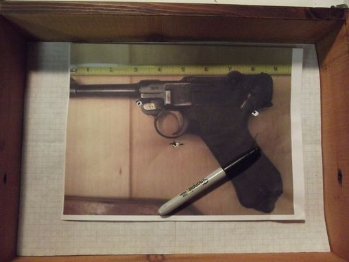 Custom Made Shadow Box For A Vintage German Luger $225 -Custom Order-