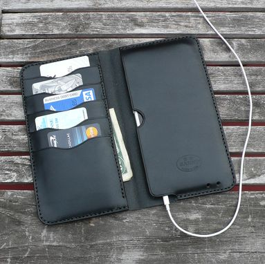 Custom Made Garny - №75 Iphone 6 Leather Wallet - Black