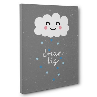 Custom Made Dream Big Cloud Hearts Canvas Wall Art