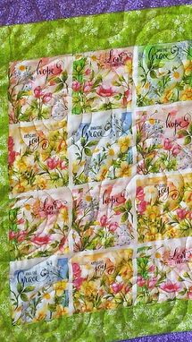 Custom Made Mothers Day Quilt-Garden Flowers