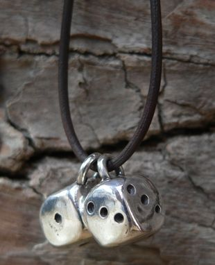 Custom Made Fine Silver Lucky Dice Necklace