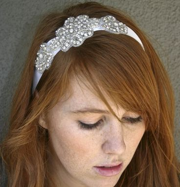 Custom Made Rhinestone Sash Or Headband, Wedding Belts, Sashes, Bridal Accessories, New Years Eve Party