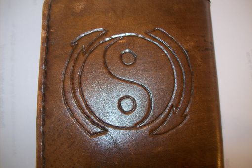 Custom Made Custom Leather Deluxe Wallet With Bruce Lee And Yin Yang Symbol