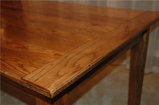Custom Made Solid Red Oak Farm Table