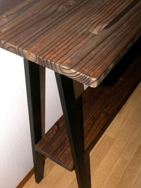 Custom Made Modern Industrial Console Table, Entry Table, Steel & Wood Accent Table