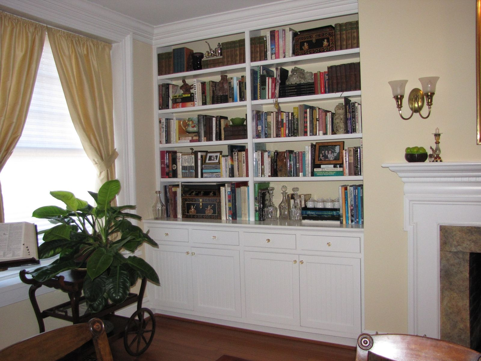 Handmade Built In Bookshelves By Kent Cabinetry & Millwork