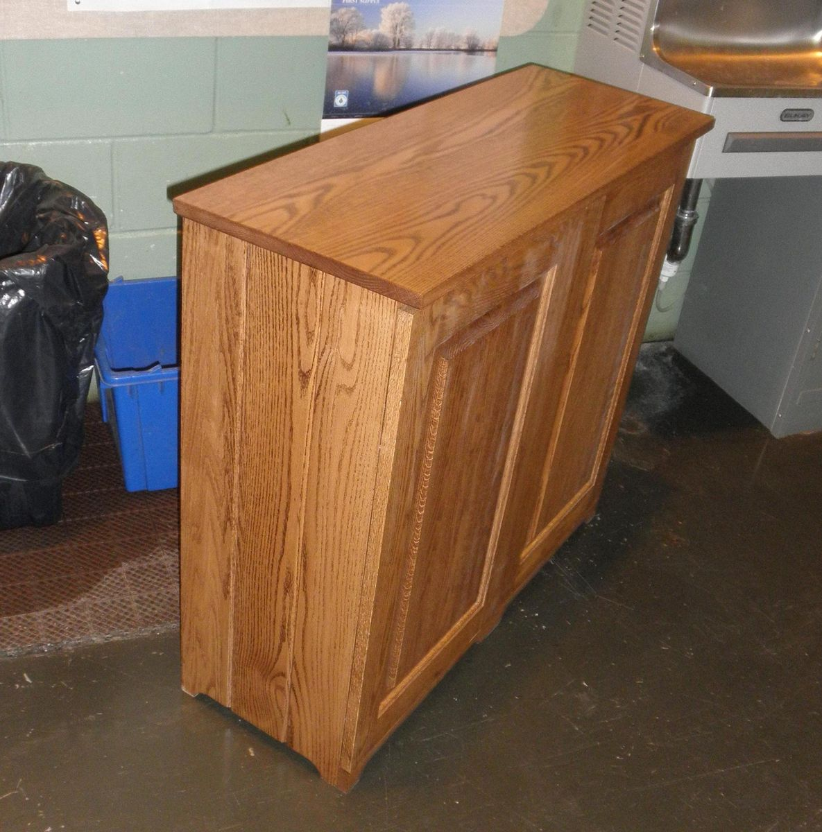 Custom Made 2 Bin Trash/ Recycling Cabinet by Joey's Custom ...