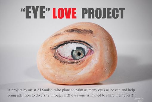 Custom Made Realistic Painted Sculpture Of Your Eye, The #Eyeloveproject