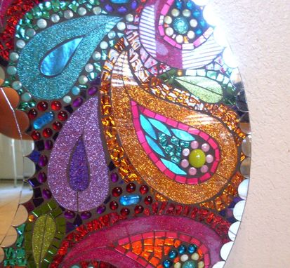 Hand Crafted Paisley 24 Quot Stained Glass Mosaic Mirror By
