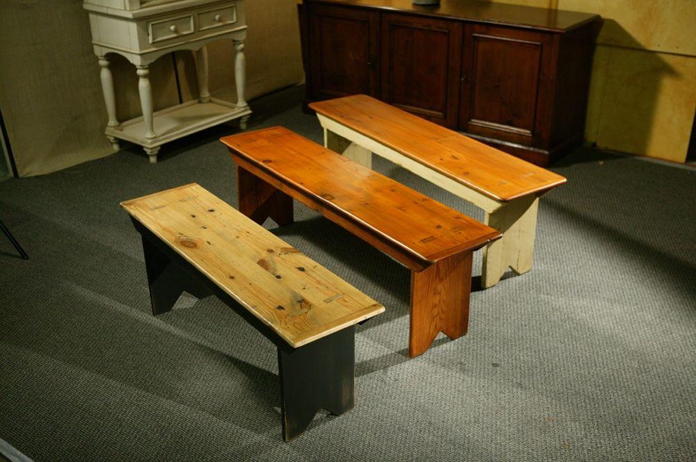 Custom Made Rustic Reclaimed Barn Wood Plank Bench By