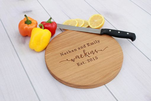 Custom Made Personalized Cutting Board, Engraved Cutting Board, Custom Wedding Gift – Cbr-Wo-Nathanemilywatkins