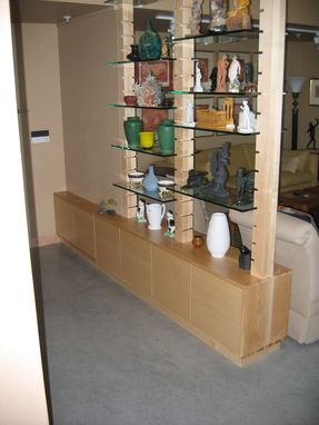 Custom Made Maple Art Display Shelving And Cabinet