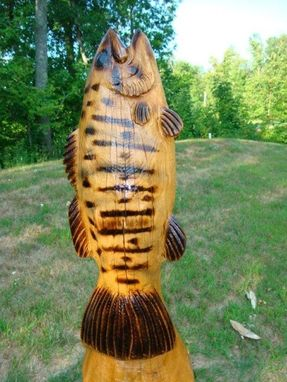 Custom Made Vertical Fish, Wooden