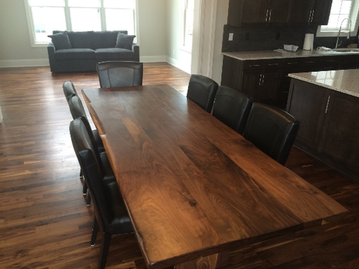 Custom Made Hand Carved Live Edge Dining Table