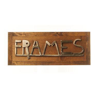 Custom Made Custom Steel And Wood Sign