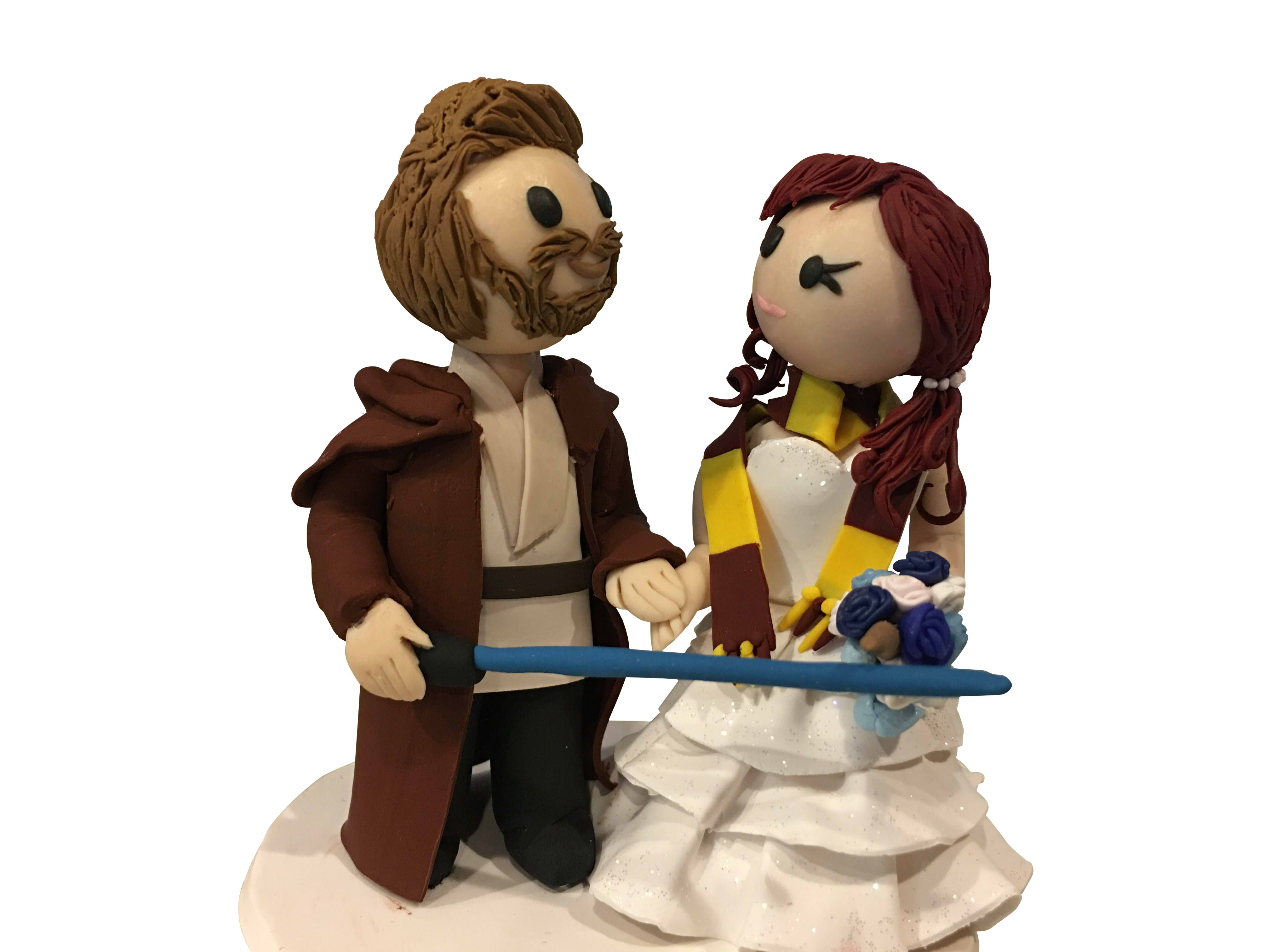 harry potter star wars wedding cake topper handmade chibi wars harry potter topper by 15100