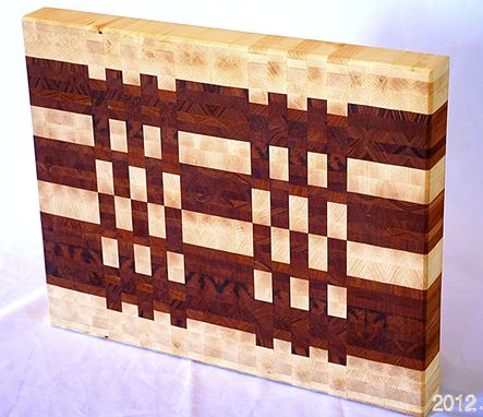 Custom Made Mixed Wood End Grain Butcher Block