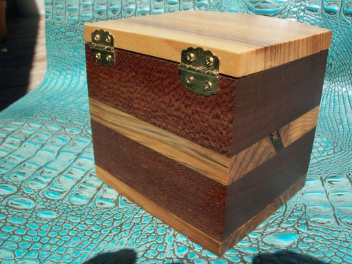 "Custom Made Wooden Chest In Hickory And Indonesian Bubinga ""Small Bit Of The Good Life"""