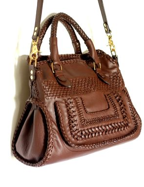 Custom Made Hortensia / Handwoven Supersoft Leather Handbag In A Classic Design