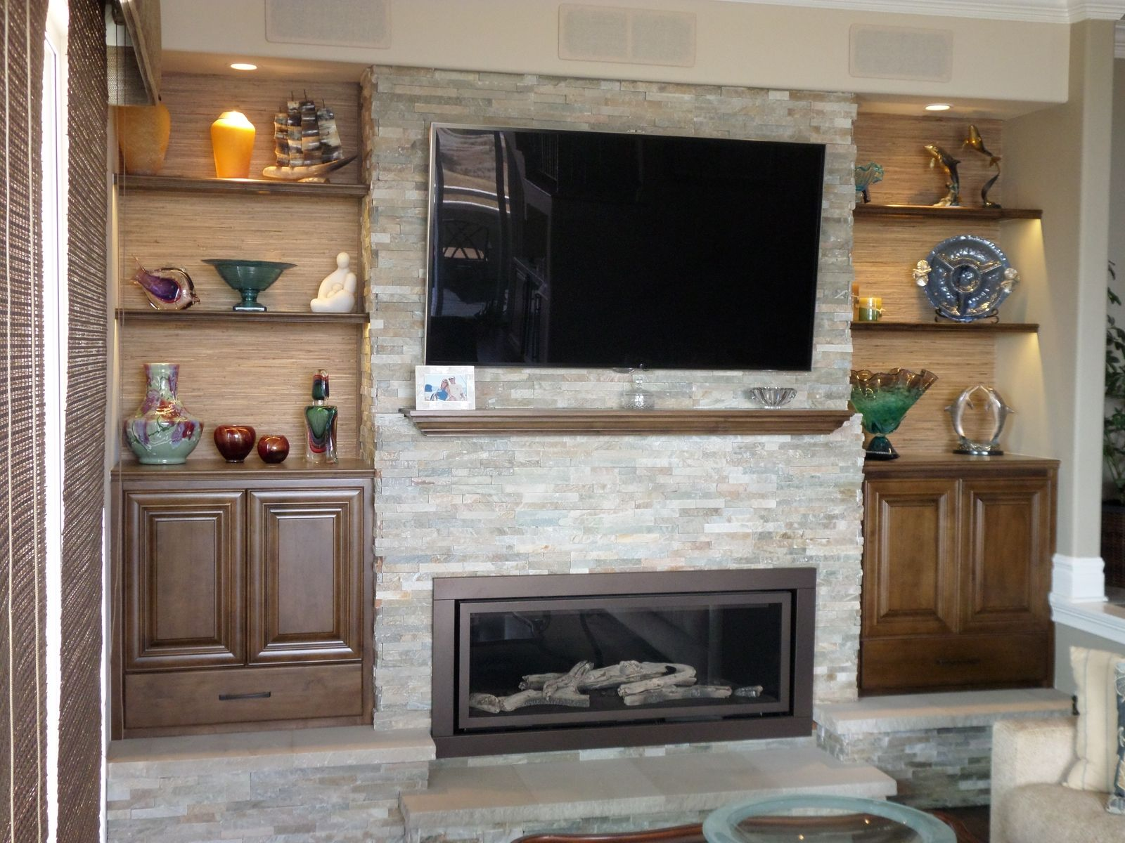 with bookshelves bookcases plans ins ideas mantel fireplace built around