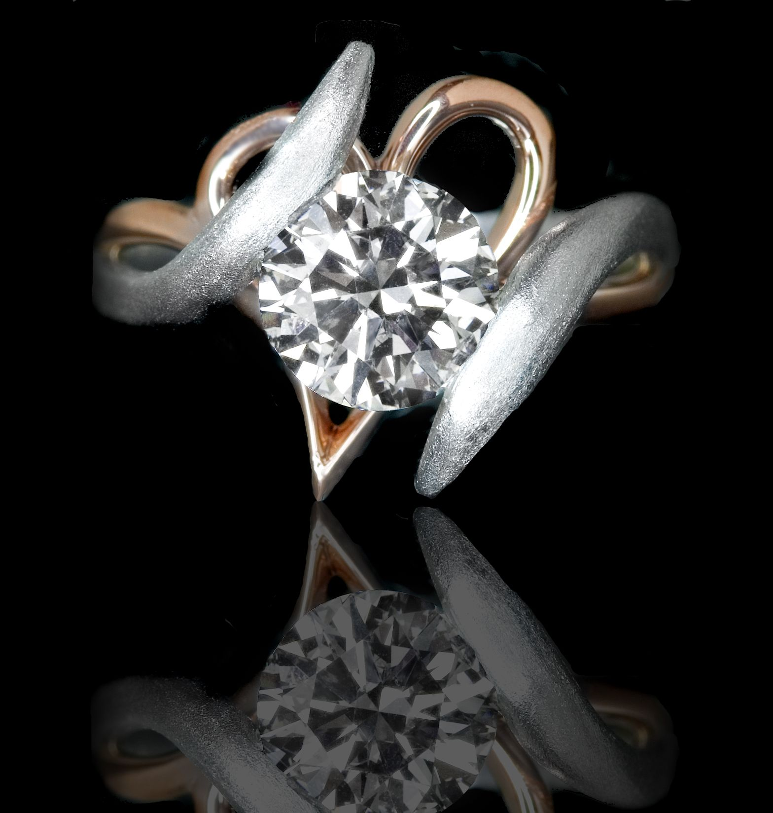 jolie diamond set edward rings engagement s wedding with elegant mirell la unique band titanium tension ring amp of