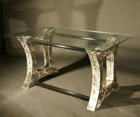 Custom Made Modern Polished Steel Desk