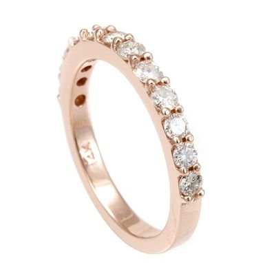 Custom Made Semi Eternity Rose Gold Diamond Ring/ Band
