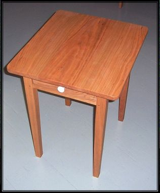 Custom Made Cherry Side Table With Drawer