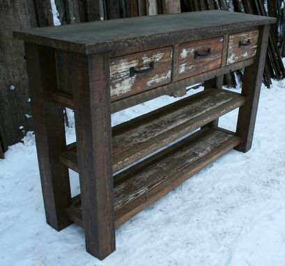Custom Made Rustic Reclaimed Entry Table