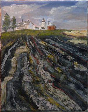 Custom Made Pemaquid Point - 5 X 7 Greeting Card Print