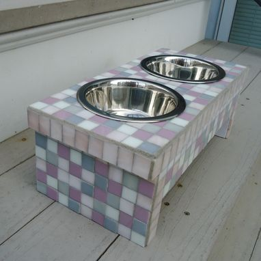 Custom Made Mosaic Pet Feeding Dish